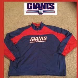 NY Giants size 2X football jacket lined zip up
